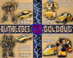 Bumblebee-Goldbug Comparative by LittleBigDave
