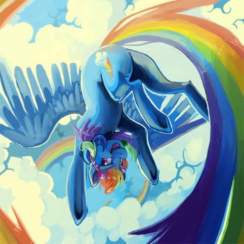Sky high by CaramelBrulee
