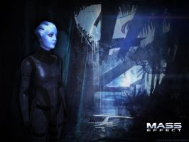 Liara T'Soni Wallpaper 2 by masterulukai