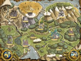 Aldfarne map with buttons for Warlords RTS by ThaneBobo