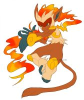 infernape by ostalgie