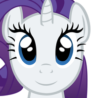 Rarity Face (Vector) by MaybyAGhost