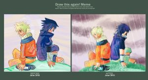 Draw this again - NaruSasu by Linked-Memories
