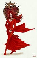 Melisandre (The Red Woman) by JamesBousema