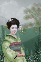 geisha girl by riverfae