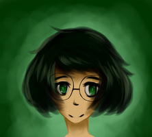 Short Hair by AlbinoBlueberry