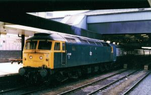 Class 47 on Leeds Manchester by irwingcommand