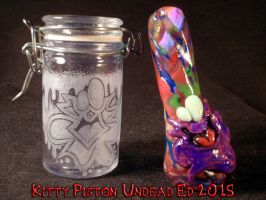 Plasma Slug Stash jar and chillum by Undead-Art