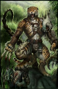 Bone Werejaguar PATH TO APEX by ChuckWalton