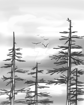 Gray Trees Warm Up by DestrctiveEmily