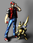 Ash and Pikachu Years Later (Pokemon) by jameslink