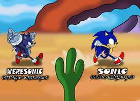 Sonic and Weresonic by sonictopfan