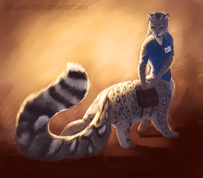 Some Dramatic Tailfloof by TeknicolorTiger