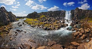 Oexararfoss, Iceland by Nightline