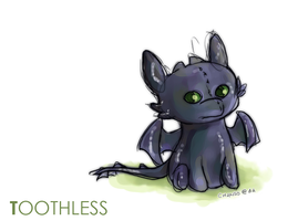 Toothless doodle by chanso