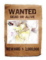 Zero Kiryuu: WANTED DEAD OR ALIVE by ZeroKiryu-Banana