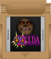 Majora's Mask [Game Boy] Limited Gold Cartridge by BLUEamnesiac
