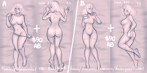 YCH: Dakimakura - Body Pillow Auction! CLOSED by MaryLittleRose