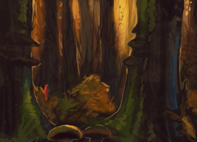 Forest Quicksketch by KGMomo