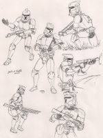 Clone Trooper Battle Poses by Tribble-Industries