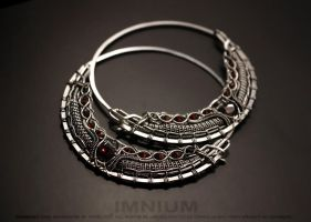 TR hoop earrings by IMNIUM