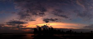 New York City Sunset by phlezk