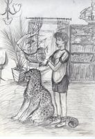 Boy and jaguar by natoth