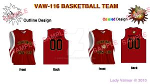 VAW116 Basketball Jerseys by ladyvalmar