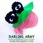 Totoro Dust Bunny and Leaf Headpiece by DarlingArmy
