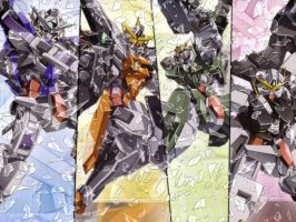 Gundam 00 - wallpaper previous by nibelwolf