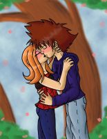 Digi: Kiss in the Park by Miss-Mae