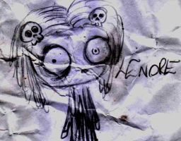 Lenore drawing by TumultOfTheCat