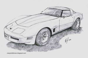 Corvette C3 Coupe by CrazyDraftsman