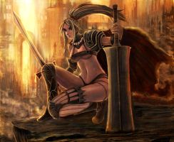Sword girl by Gold-copper