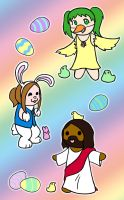 Easter Dress-Up by homicidalxfish