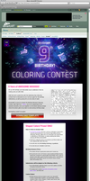 9th Birthday Coloring Contest by endosage
