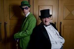 Riddler and Penguin by zomzomtography