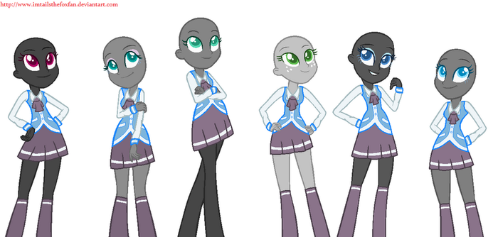EQG base #8- Canterlot Academy uniforms by Imtailsthefoxfan