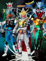 W-Gaim Final Form Riders by CJHibari02