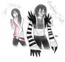 Jeff The Killer Y Laughing Jack by pbo-artistica