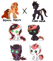 Pencil x Darkhour - Foal Adopts [1/4 OPEN] by TanukiAdopts