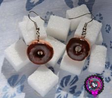 Donut Earrings by StrawberryNinilein