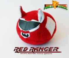 Mighty Morphin Puggle Rangers - Red Ranger by callykarishokka