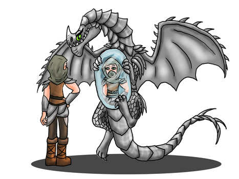 Chibi Meets HTTYD #9: Heather And Windshear by ScaleBound