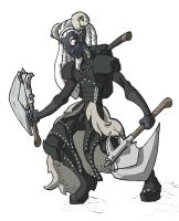Lothar - Toon - Drow Recolor by the-batcomputer