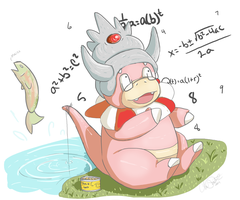 GIFT// Slowking-s-Thompson by SometimesCats