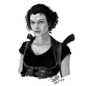 Milla jovovich - Portrait Attempt [26-12-2014] by tyno2