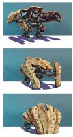 robot positions by estivador