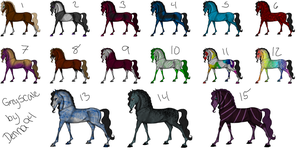 Adoptables Set 2 [Point/Art/Raffle] by SlytherinAcres