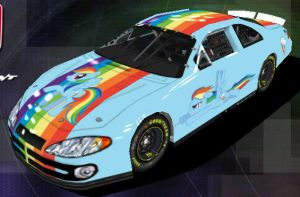 Rainbow Dash Nascar - Front by Framwinkle
